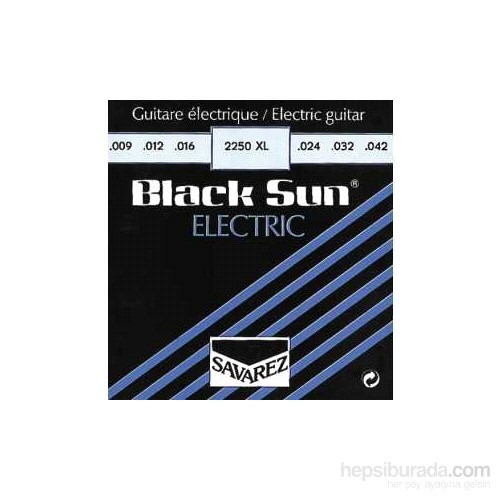 Elektrogitar Tel Set Black Sun