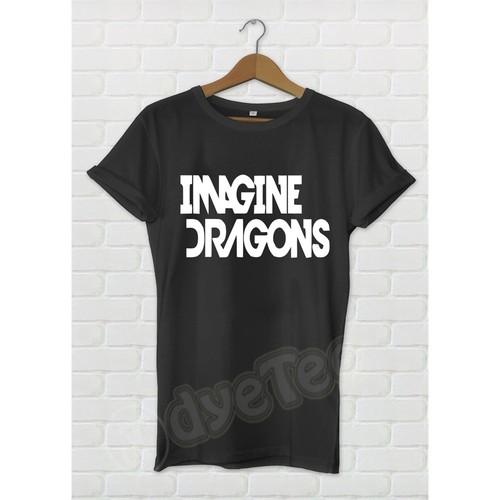 Dyetee Imagine Dragons Klasik Bayan T-Shirt