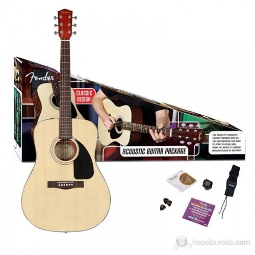 Fender Cd-60 Pack Natural V2 Akustik Gitar