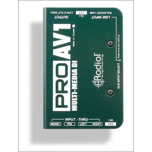 Radial Pro Av1 Av Uygulamaları İçin Dı Box