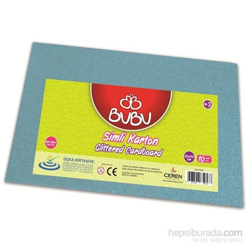 Bu-Bu Simli Karton Açık Mavi 50X70 Bubu-Fk0008