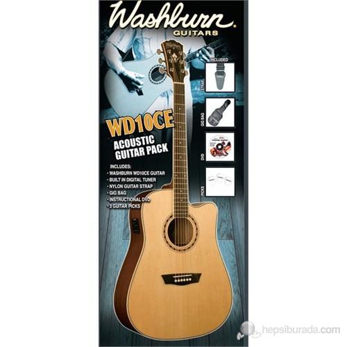 Washburn Wd10Ce Pack Akustik Gitar Seti