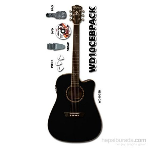 Washburn Wd10Ceb Akustik Gitar Seti