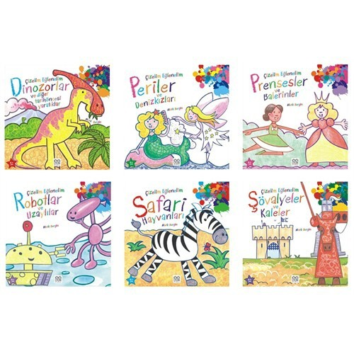 Çocuklar İçin Çizelim Eğlenelim Seti (6 Kitap)