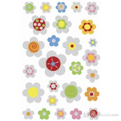 Herma Çocuk Etiketleri Kabartma Çiçekler