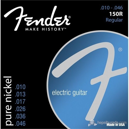 Fender Original 150 Guitar Strings, Pure Nickel Wo