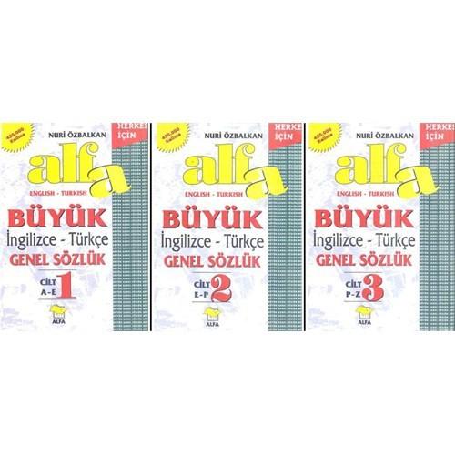 Büyük İngilizce Türkçe Genel Sözlük 3 Cilt