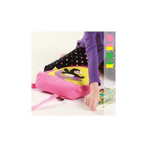 Pixelbags Çocuk Sırt Çantası - Pembe - Sarı