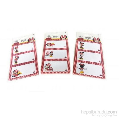 MINNIE MOUSE OKUL ETİK. ( 8 x3 )24'LU