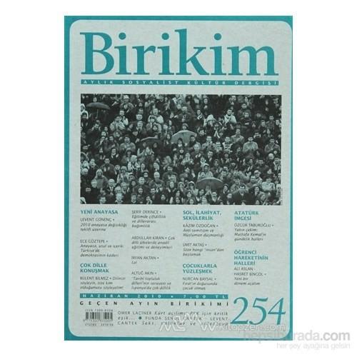 Birikim Aylık Edebiyat Kültür Dergisi Sayı: 254