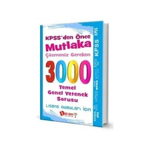 Dahi Adam Kpss 3000 Temel Genel Yetenek Sorusu Lisans Adayları İçin