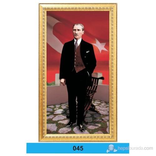 İnter 50x100 cm Varaklı Atatürk Portresi İNT-045