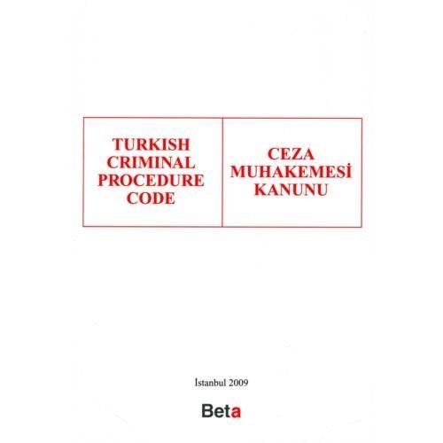 Turkish Crımınal Procedure Code (ceza Muhakemesi Kanunu)