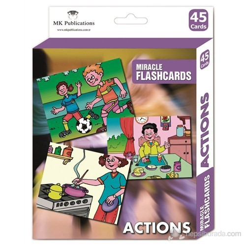 Miracle Flashcards Actions (47 Pictures)