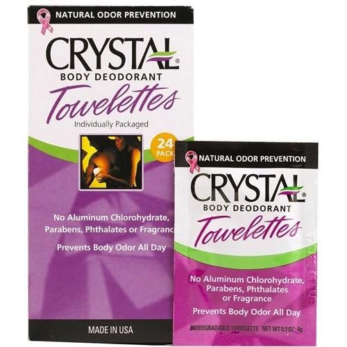 Crystal Kokusuz Deodorant Mendil- 1 Kutuda