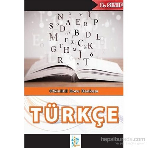 Dörtgöz 8.Sınıf Türkçe Etkinlikli Soru Bankası-Kolektif