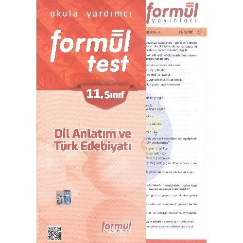 Formül 11. Sınıf Dil Anlatım Ve Türk Edebiyatı Yaprak Testler