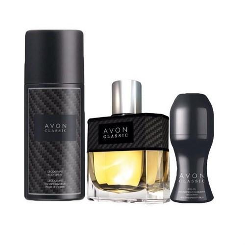 Avon Classic Edt 75 Ml Erkek Parfüm 3'Lü Set