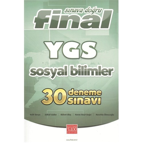 Final Sınava Doğru YGS Sosyal Bilimler 30 Deneme Sınavı