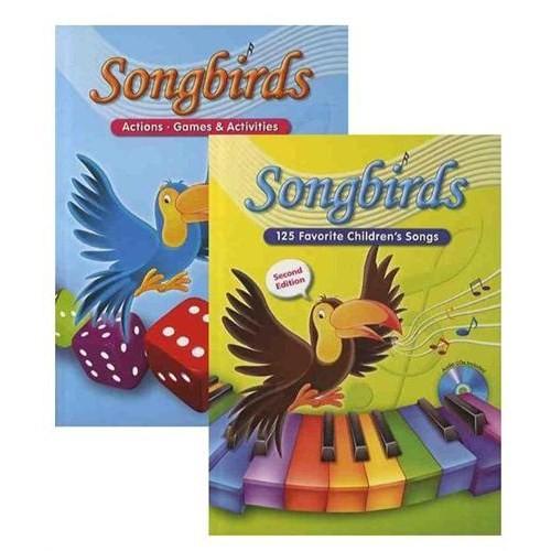 Songbirds 125 Favorite Children's Songs-Action & Games & Activities (2 Kitap + 2 CD)