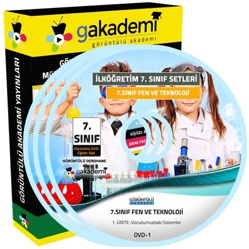 Görüntülü Akademi 7. Sınıf Fen Ve Teknoloji Görüntülü Eğitim Seti (7 Dvd)