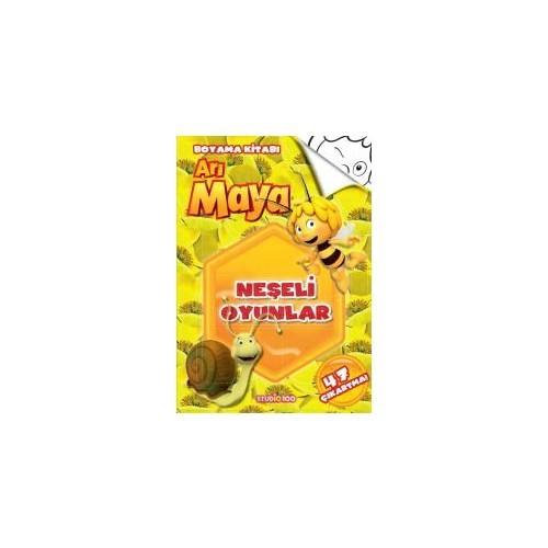 Arı Maya: Neşeli Oyunlar (Boyama Kitabı)