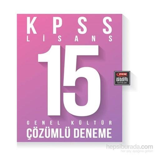 Fem Akademi Kpss G.Kültür 15 Çzml Deneme Kitabi - ( Tcv ) / Lisans