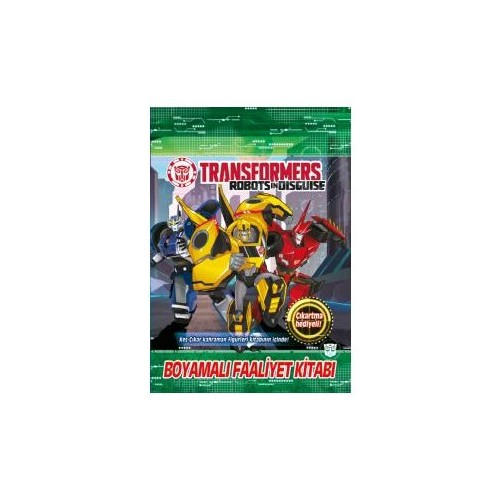 Transformers Boyamalı Faaliyet Kitabı-Kolektif