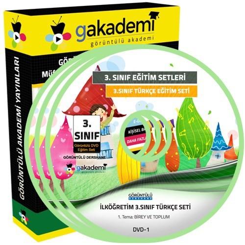 İlköğretim 3. Sınıf Türkçe Görüntülü Eğitim Seti (8 Dvd)