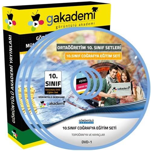 Görüntülü Akademi 10. Sınıf Coğrafya Görüntülü Eğitim Seti (6 Dvd)