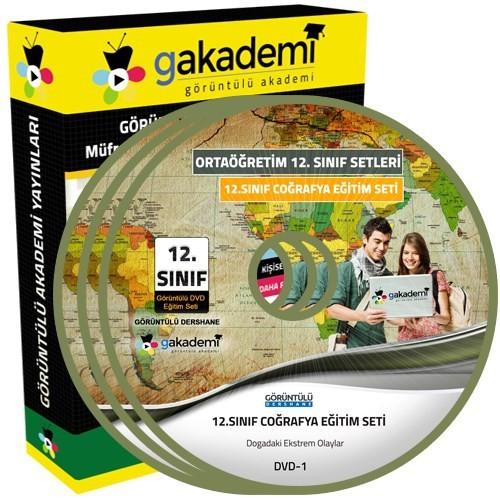 Görüntülü Akademi 12. Sınıf Coğrafya Görüntülü Eğitim Seti 6 Dvd