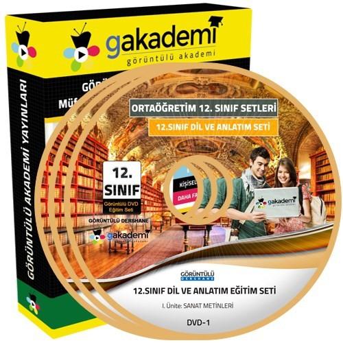 Görüntülü Akademi 12. Sınıf Dil Ve Anlatım Görüntülü Eğitim Seti 4 Dvd