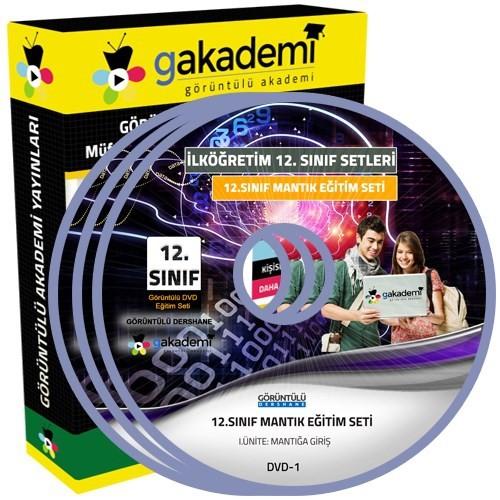 Görüntülü Akademi 12. Sınıf Mantık Görüntülü Eğitim Seti 5 Dvd