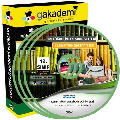 Görüntülü Akademi 12. Sınıf Türk Edebiyatı Görüntülü Eğitim Seti 5 Dvd