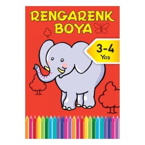 Rengarenk Boya 2 3-4 Yaş Kırmızı Kitap