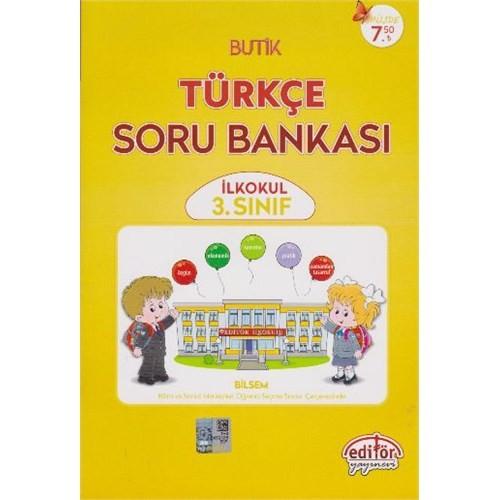 Editör 3. Sınıf Butik Türkçe Soru Bankası
