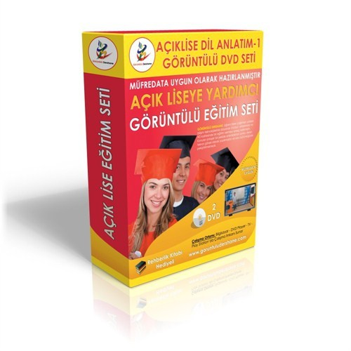 Açıklise Dil ve Anlatım 1 Görüntülü Eğitim Seti 2 DVD+ Rehberlik Kitabı Hediye