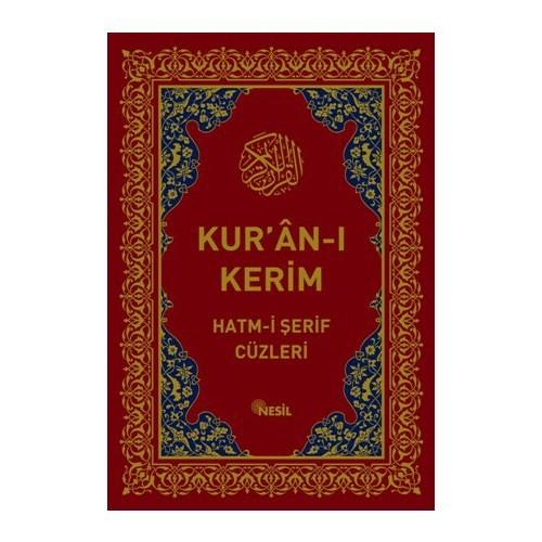 Kur'an-ı Kerim Hatm-i Şerif Cüzleri