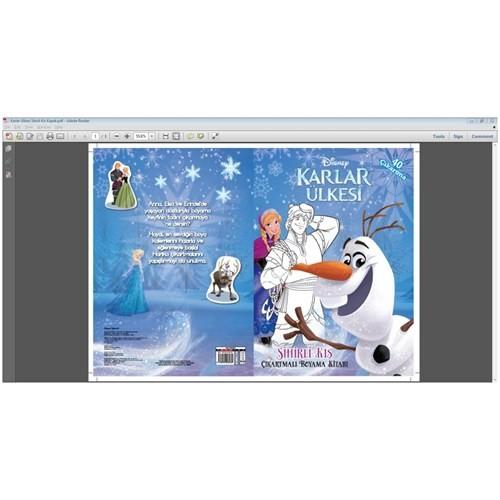 Disney Karlar Ülkesi Sihirli Kış Çıkartmalı Boyama Kitabı