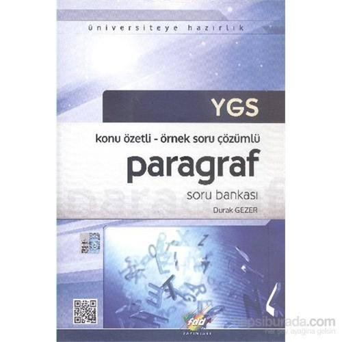 FDD YGS Paragraf Soru Bankası - Konu Özetli Örnek Soru Çözümlü