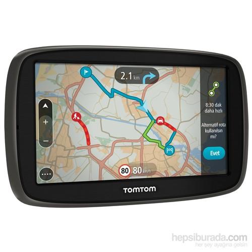 """Tomtom Go 50 Güncel Trafik 5"""" Ekranlı Akıllı Telefon Bağlantılı Navigasyon Cihazı (Ömür Boyu Ücretsiz Güncelleme)"""
