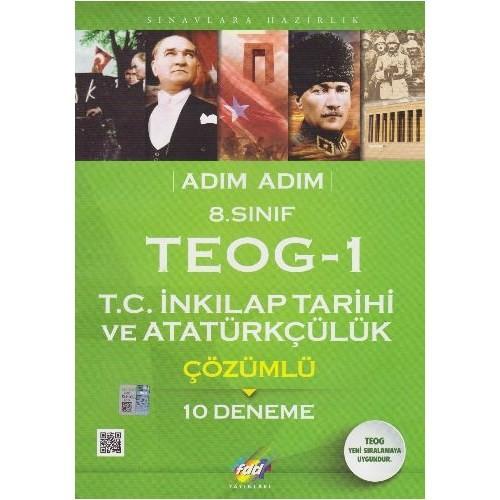Fdd 8. Sınıf Adım Adım Teog 1 T.C: İnkılap Tarihi Ve Atatürkçülük Çözümlü 10 Deneme-Kolektif
