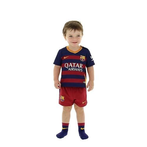 Nike 658684-422 Fc Barcelona Home Bebek Forma Takımı