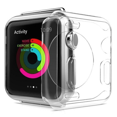 Case 4U Apple Watch Silikon Kılıf Şeffaf (38mm)