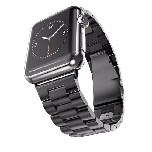 Case 4u Apple Watch Metal Kayış Baklalı Model Siyah (42mm)