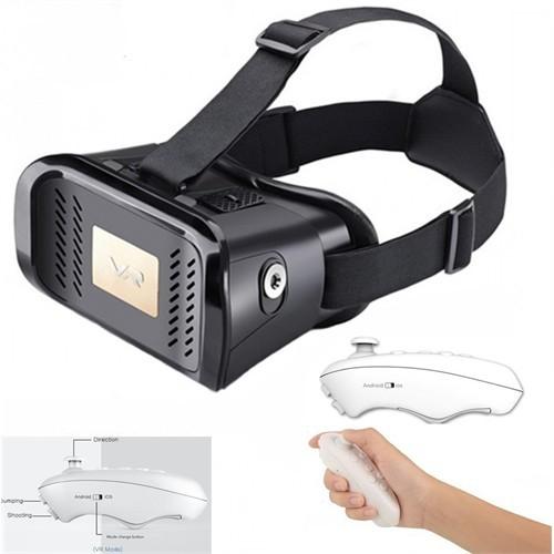 Vr 3D Glasses 360 Full Sanal Gerçeklik Gözlüğü + Bluetooth Kumanda