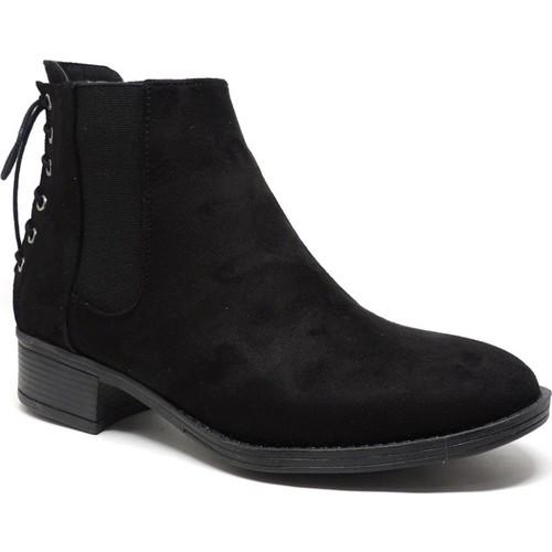 Shop and Shoes 171-504 Siyah Süet Bayan Bot