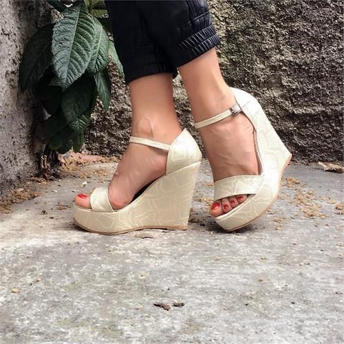 Shop And Shoes 173-17105 Beyaz Kadın Sandalet