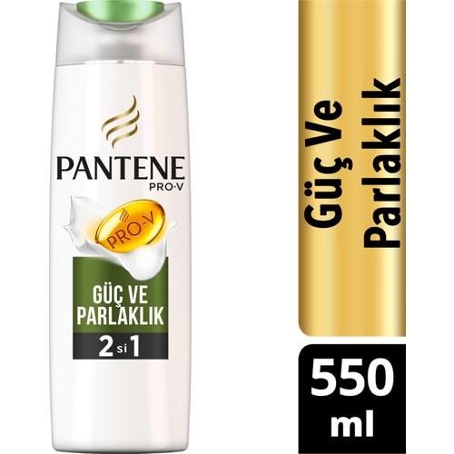 Pantene 2'si 1 Arada Şampuan ve Saç Bakım Kremi Doğal Sentez Güç ve Parlaklık 550 ml