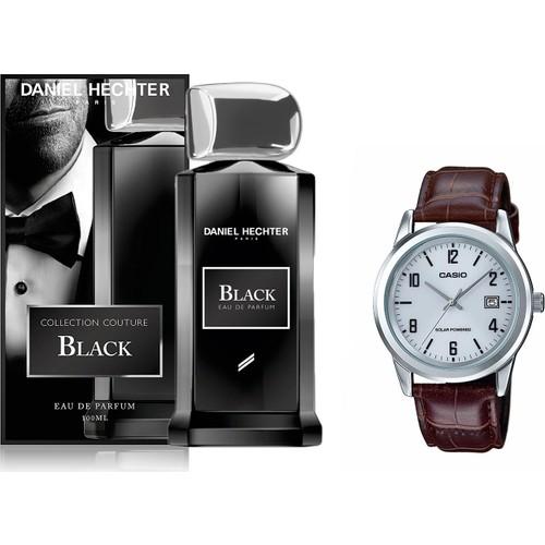 Daniel Hechter Black Edp 100 Ml Erkek Parfüm + Casio Mtp Vs01l 7b2df Erkek Kol Saati Set